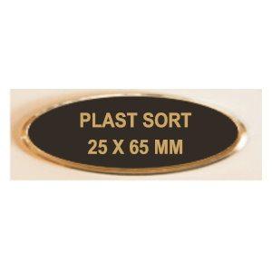 Tidsløs reversskilt i flot design med nål (65x25 mm)