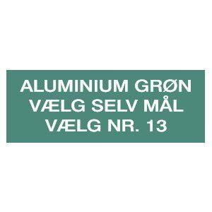 Aluminiumsskilt, grønlakeret