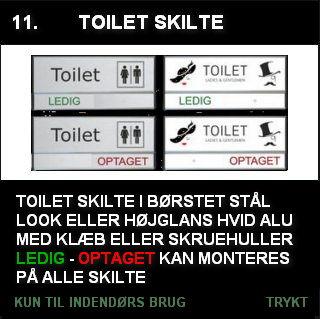 Toilet skilte med ledig/optaget funktion