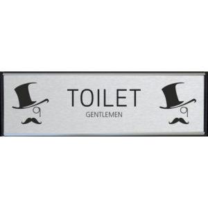 Toilet skilt Gentlemen børstet stål