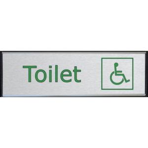 Toilet skilt handicap toilet børstet stål